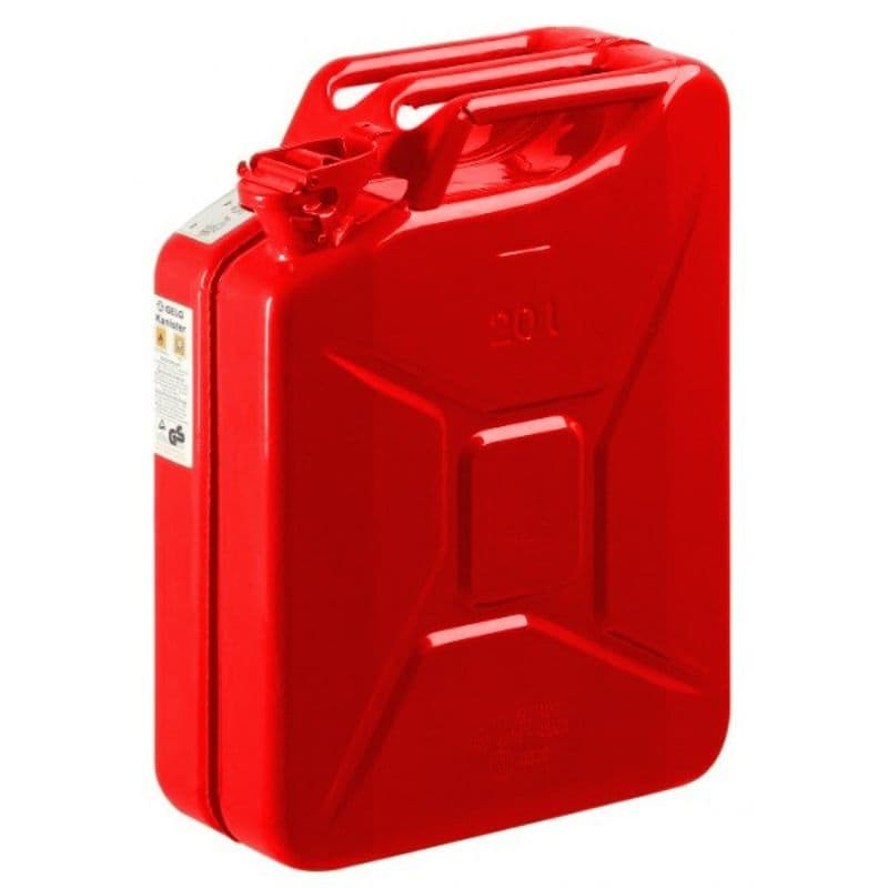 Jerrycan Staal 20L Rood