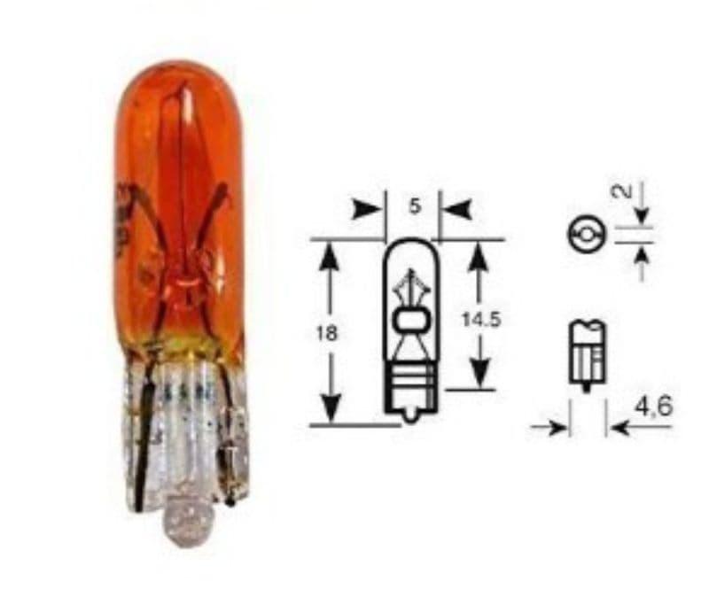 Lamp Bosma 12V - 2,3W T5 | Oranje