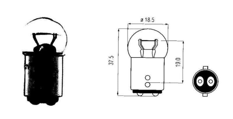 Lamp Bosma 12V - 21/5W Bay15D | Kleine Bol