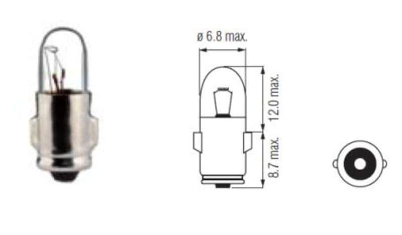 Lamp Bosma 6V - 1,2W Ba7S