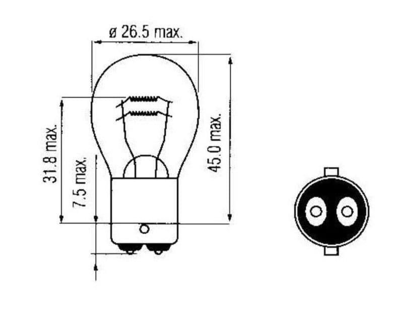 Lamp Bosma 6V - 18/5W Bay15D