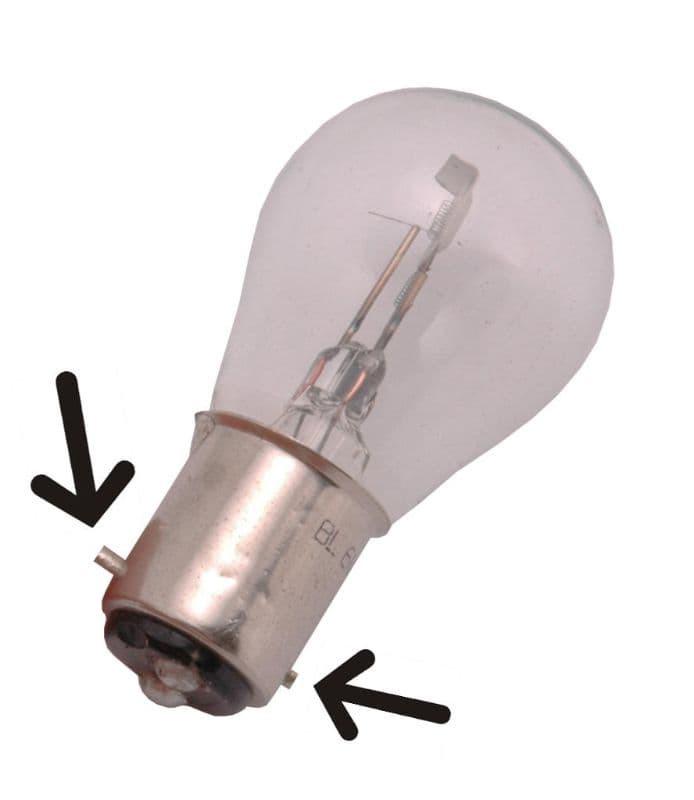 Lamp Bosma 6V - 25/25W Bax15D