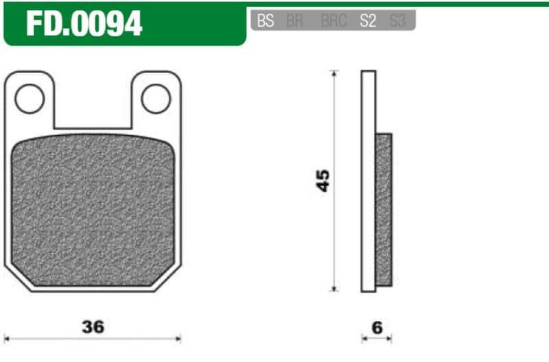 Remblokset New Fren Fd0094