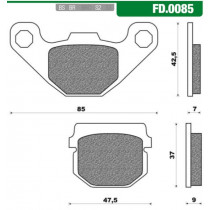 Remblokset New Fren Fd0085