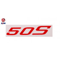 Sticker Logo Oem | Sym 50S Rood